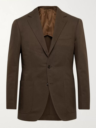 Beams Slim-Fit Cotton And Linen-Blend Twill Suit