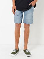 Wrangler New Mens Smith Shorts In Boneyard Stone Denim Shorts Denim