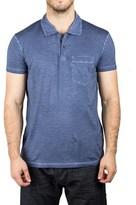 Prada Men's Jersey Sport Pima Cotton Slim Fit Pocket Polo Shirt Blue Navy.