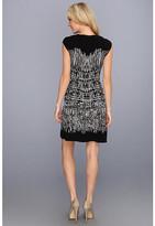 BCBGMAXAZRIA Melissa Painted Houndstooth Dress