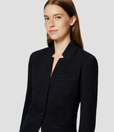 LOFT Tall Pinstripe Knit Notched Blazer
