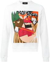 DSQUARED2 printed sweatshirt - men - Cotton/Spandex/Elastane - L
