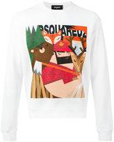 DSQUARED2 printed sweatshirt - men - Cotton/Spandex/Elastane - M