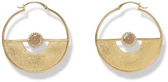 Sole Society Grey Onyx Large Hoop Earrings