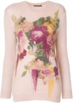 Alberta Ferretti floral print jumper