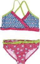 Playshoes Girl's UV Sun Protection Swimsuit Flowers Bikini,(Manufacturer Size:110/116 (5-6 Years))