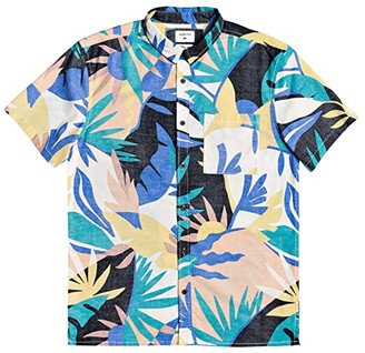 Quiksilver Tropical Flow Short Sleeve (Snow White Tropical Floral) Men's Clothing