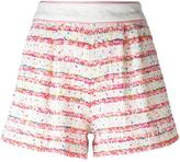 Moschino striped shorts - women - Cotton/Polyamide/other fibers - 40