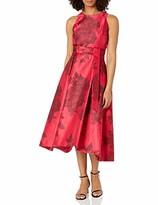 Tahari ASL Women's Mikado Fit and Flare Hi-Lo Dress