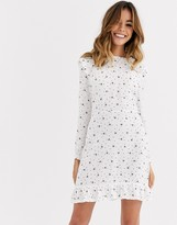 Nobody's Child mini fit and flare skater dress in bee and dot