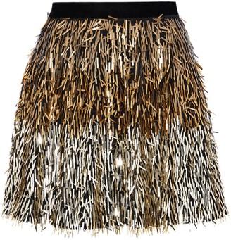 Alice + Olivia Cina Sequined Tulle Mini Skirt