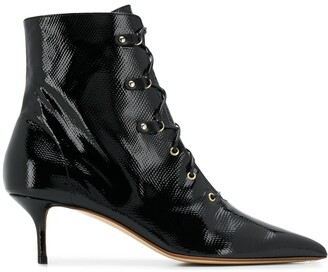 Francesco Russo Lace-Up Ankle Boots