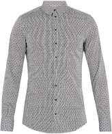 Dolce & Gabbana Single-cuff polka-dot print cotton-blend shirt