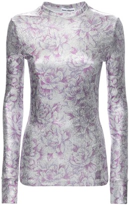 Paco Rabanne Floral Print Viscose Blend Top