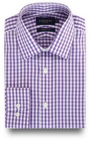 Osborne Big And Tall Lilac Gingham Checked Print Regular Fit Shirt