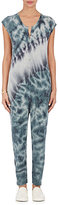 Raquel Allegra Women's Tie-Dyed Fine-Gauge Knit Sleeveless Jumpsuit-GREEN