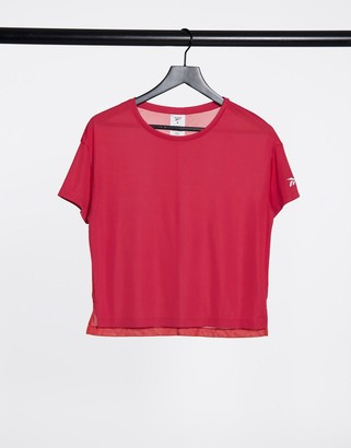 Reebok workout-ready tee in rebel red