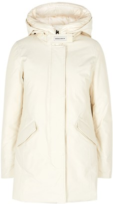 Woolrich Arctic Off-white Padded Twill Parka