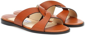 Jimmy Choo Atia Flat leather sandals