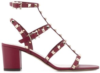 Valentino Rockstud block-heel sandals