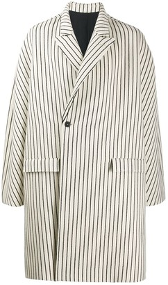 Haider Ackermann Striped Oversized Coat