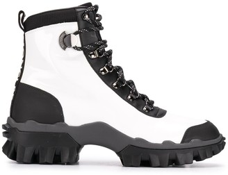 Moncler Two-Tone Lace-Up Boots
