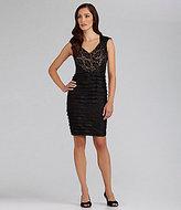 Adrianna Papell Sequin-Lace Shutter Dress