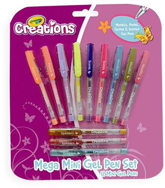Crayola Creations 12 Mega Mini Gel Pens