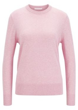 HUGO BOSS Crew-neck sweater in cotton with silk and cashmere