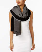Calvin Klein Pleated Colorblock Wrap