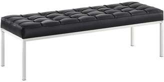 Modway Loft Leather Bench