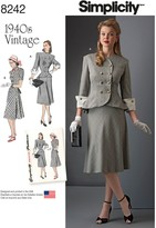 Simplicity Women's Vintage Suit Sewing Pattern, 8242