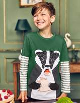Boden Layered Fun Animal T-shirt