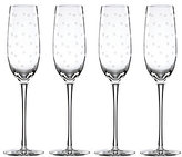 Kate Spade Larabee Road Dotted Crystal Flutes, Set of 4