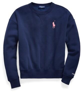 Ralph Lauren Pink Pony Fleece Crewneck Sweatshirt