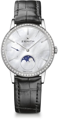 Zenith Elite Moonphase Diamond Automatic Watch 33Mm
