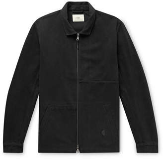 Folk Fraction Panelled Washed Cotton-Canvas Jacket