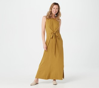 Denim & Co. Jersey Round-Neck Sleeveless Maxi Dress