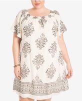 Eyeshadow Trendy Plus Size Printed Shift Dress
