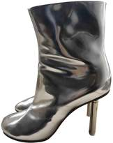 Vetements Silver Leather Boots