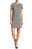 London Times Scroll Crest Shift Dress (Petite)