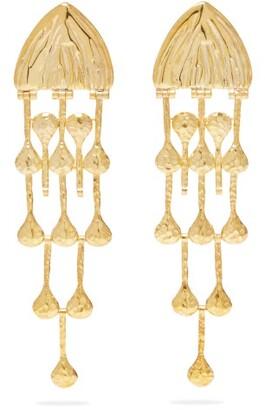 Sophia Kokosalaki Maiden Medusa Gold Plated Earrings - Womens - Gold