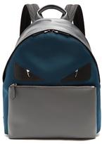 Fendi Bag Bugs Leather-trimmed Canvas Backpack
