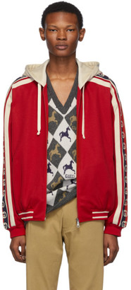 Gucci Red GG Ribbon Jacket