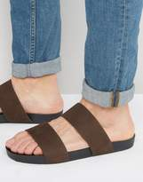 Vagabond Funk Double Strap Slip On Sandals