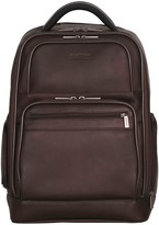"""Kenneth Cole Reaction Colombian Leather Double Compartment 15.6"""" Computer Backpack"""