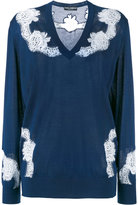 Dolce & Gabbana lace insert jumper - women - Silk/Cotton/Polyamide/Cashmere - 44
