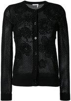 Chloé knit floral patch cardigan - women - Cotton - S