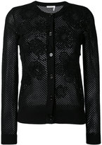 Chloé knit floral patch cardigan - women - Cotton - XS