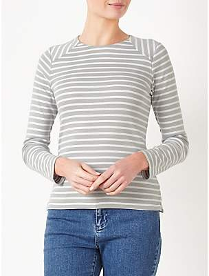 Collection WEEKEND by John Lewis Breton Stripe Zip Back Top
